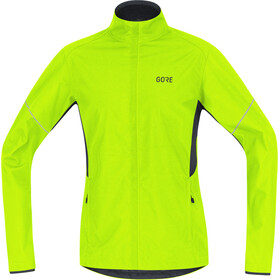 GORE WEAR R3 Partial Gore Windstopper Løbejakke Herrer, neon yellow/black